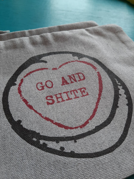 """Go and Sh*te"" Recycled Pouch"