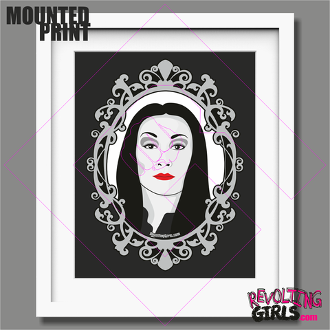 Morticia Addams Mounted Print