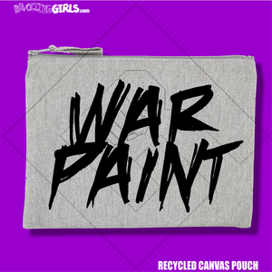 """War Paint"" Recycled Pouch"