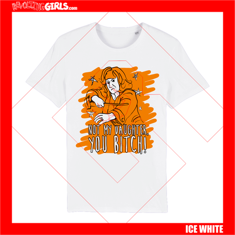 Revolting Girls, Molly Weasley feminist icon slogan white tee shirt. Organic, FairWear, vegan friendly.