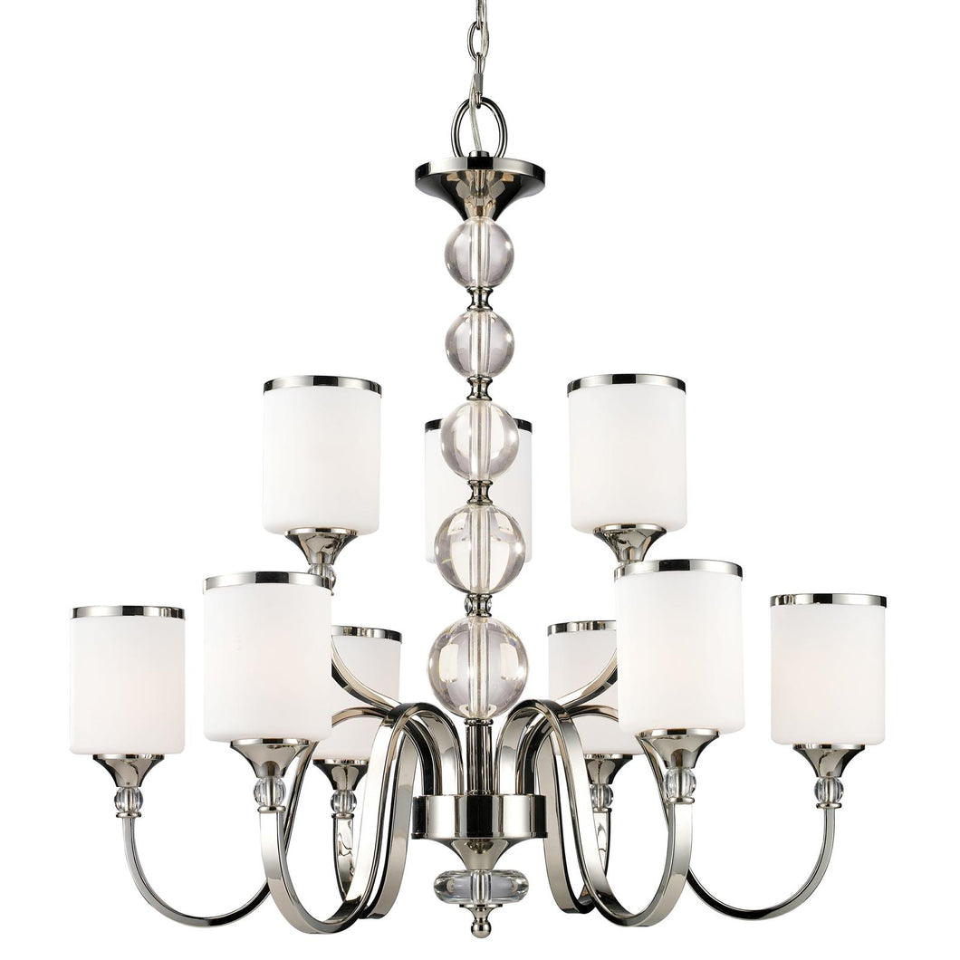 Z-Lite Cosmopolitan Cosmos Chandelier Chrome dining hall - ChandeLighting