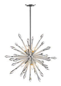 Z-lite Sole Chandelier 10-lights Chrome Grand Foyer Chandelier - ChandeLighting
