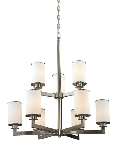Z-lite Sava Chandelier 9-Lights Brushed Nickel Dining Room Chandelier - ChandeLighting