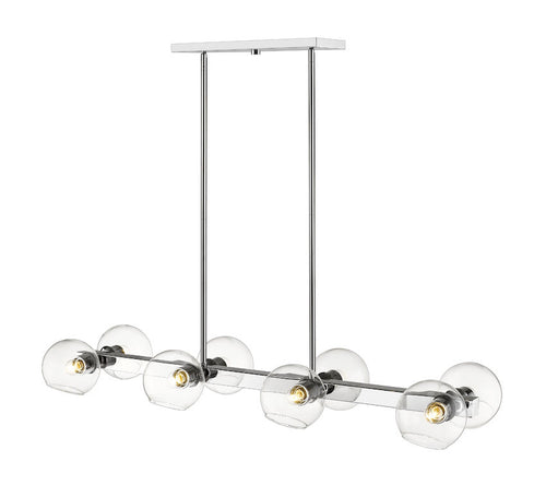 Z-lite Marquee 8-Light Pendant Chrome Steet Kitchen Pendant - ChandeLighting