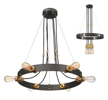 Load image into Gallery viewer, Z-lite Trouba Chandelier 6-light Bronze Office Chandelier - ChandeLighting