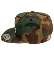 Load image into Gallery viewer, MI Embroidered Snapback (Camo)