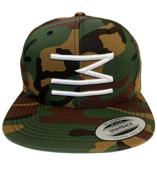 MI Embroidered Snapback (Camo)