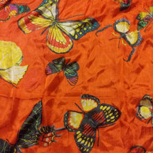 Load image into Gallery viewer, Large Silk Scarf Butterfly Print
