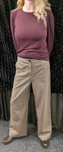Load image into Gallery viewer, b.young Trousers with Check Print and Wide Leg