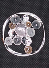 Load image into Gallery viewer, Magnetic Scarf Fastener/Brooch Open Circle Detail