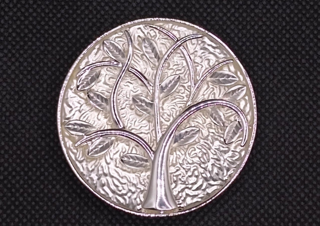 Magnetic Scarf Fastener/Brooch Tree of Life Circle Detail