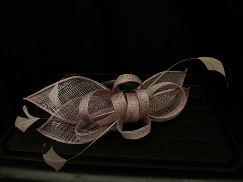 Dusky pink Failsworth headband fascinator