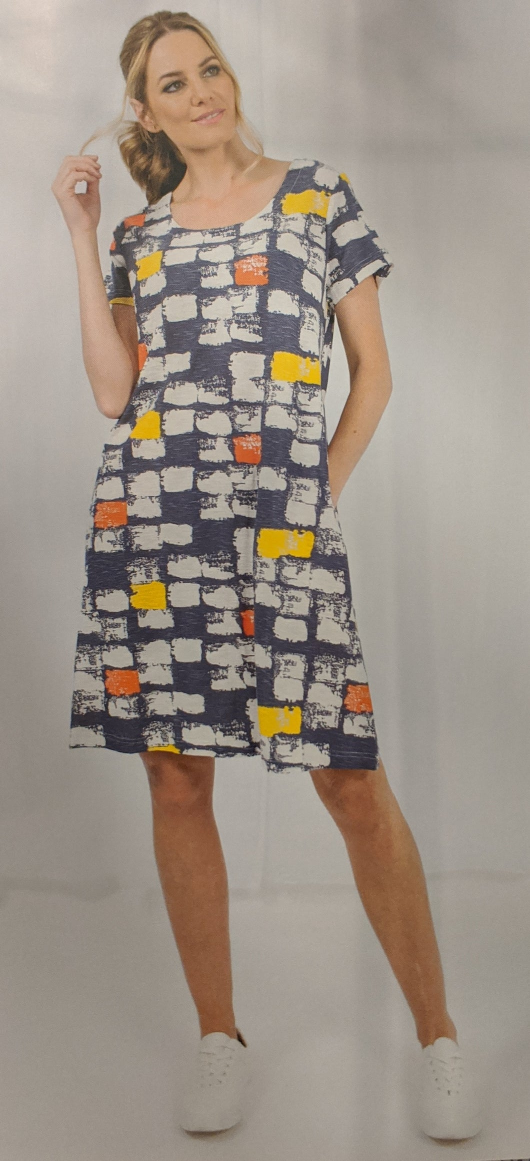 Capri Macy Print  Cotton Dress