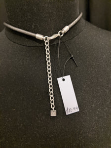 Hammered metal necklace
