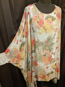 Silk/viscose long tunic