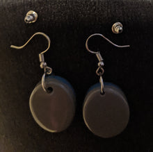 Load image into Gallery viewer, Double Sided Oval Drop Earrings