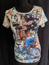 Load image into Gallery viewer, Orientique Cotton T- Shirt Bicycle Print