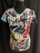 Load image into Gallery viewer, Orientique Cotton T- Shirt Mykonos Print