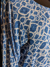 Load image into Gallery viewer, Adini Viscose  Penny Kaftan - Atol Print in Sea blue combo