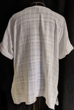 Load image into Gallery viewer, Saloos Textured Cotton Linen Top with  Short Sleeves - 7007-A
