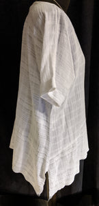 Saloos Textured Cotton Linen Top with  Short Sleeves - 7007-A