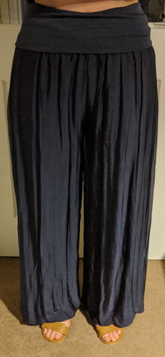 Italian Silk Lined Loose Harem Trousers