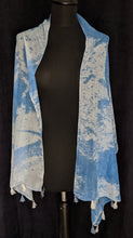 Load image into Gallery viewer, Tie dye tassle scarf