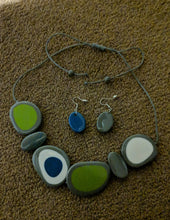 Load image into Gallery viewer, Pebble Resin Necklace - Adjustable Length Spot Design