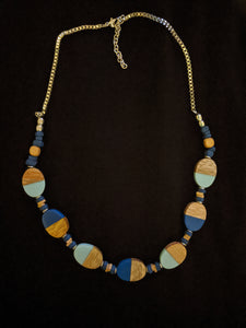 Oval Necklace - Wood and Resin combo