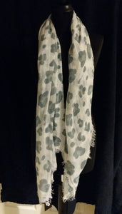Abstract Animal Print Scarf/Shawl
