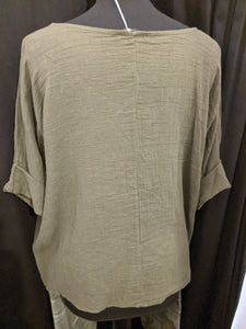 Italian cotton and linen top