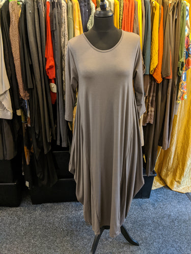 Parachute Dress with 3/4 Sleeves