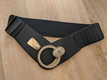 Load image into Gallery viewer, Belt with Diamante Ring Buckle