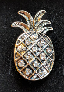 Antique gold colour pineapple brooch