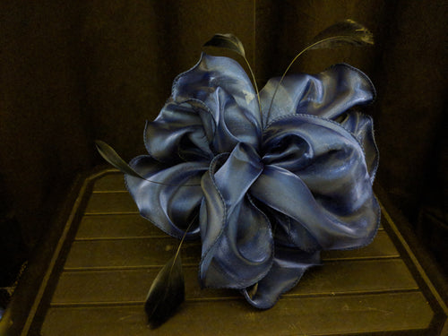 Navy headband fascinator