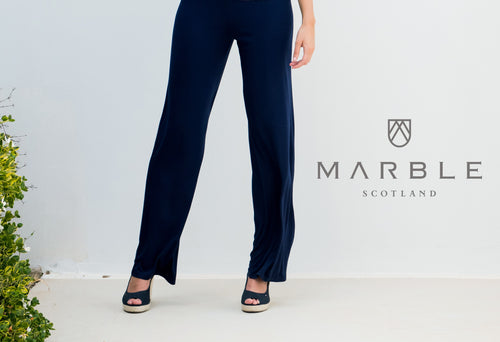 Marble elasticated waistband trousers