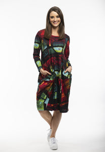 Orientique Bubble Dress- Lettters Print