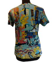 Load image into Gallery viewer, Orientique Organic Cotton T- Shirt - Cote Azure Print