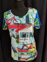 Load image into Gallery viewer, Orientique  Cotton T- Shirt Country Houses Print