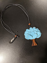 Load image into Gallery viewer, Leather Tree Necklace with Adjustable Length