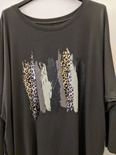 Load image into Gallery viewer, Loungewear Light Sweater with Foil Splash Animal Print