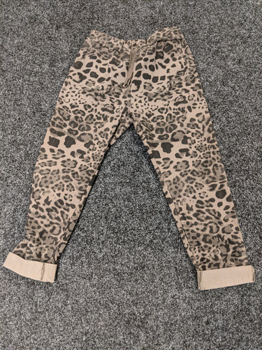 Super Stretch 'Magic' Trousers with Animal Print