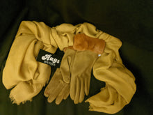 Load image into Gallery viewer, Faux Suede Gloves with Faux Fur Trim