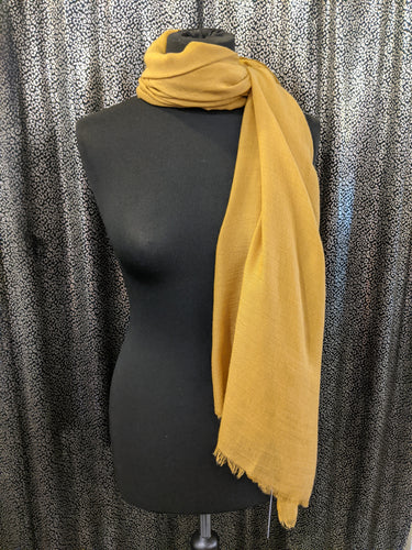 Plain Lightweight Scarf/Shawl with Frayed Edge
