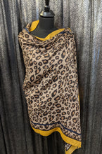 Load image into Gallery viewer, Lightweight Scarf/Shawl - Leopard Print With Border