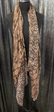 Load image into Gallery viewer, Scarf/Shawl - Lightweight Reptile & Leopard Print