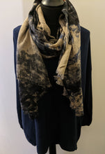 Load image into Gallery viewer, Scarf/Shawl - Lightweight and Soft with Graduated Abstract Pattern