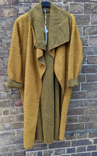 Load image into Gallery viewer, Long Boiled Wool Mix Coat with Waterfall Open Front