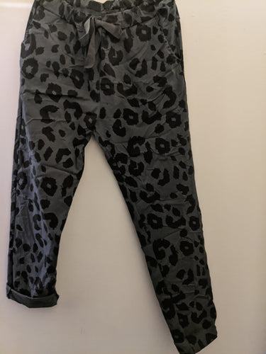 Super Stretch 'Magic' Trousers with Jaguar Print