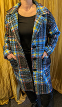 Load image into Gallery viewer, Soft Wool/Mix Coat with Check Pattern